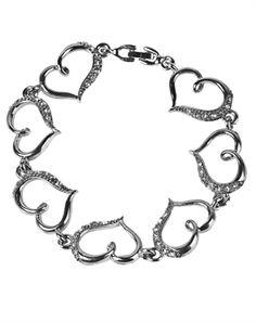 Floating Heart Bracelet - Christian Bracelet for $10.39 | C28.com