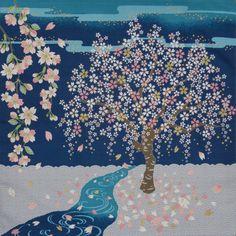 Small Size Cotton 'Sakura Stream' Cherry by KyotoCollection