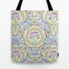Nouveau Iris 2 Tote Bag by #PatriciaSheaDesigns on #Spoonflower #Totes