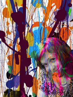 ARTES, DESARTES E DESASTRES CONTEMPORÂNEOS. Minha menina gosta de vinho e de Pollock (My little girl likes wine and Pollock) 0,60 x 0,45 Mixed midia sobre papel