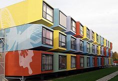 Student Housing    The Space Box® building system was designed in 2003 by interior architect Mart de Jong of the Five design in The Hague. Utrecht, Netherlands