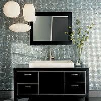 walker zanger bathrooms glass tiles backsplash paper lanterns pendants - Glass Tile Backsplash In Bathroom