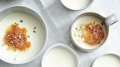 Buttermilk Panna Cotta with Apricot and Candied Fennel Recipe   Bon Appetit