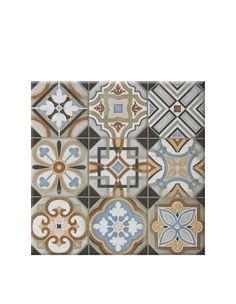 Carrelage sol ou mur style ancien provenza 44x44 cm 1 for Carreaux de ciment saint maclou