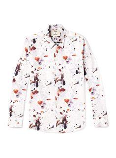Chemise blanche motif coquille d'œuf Agi Topman