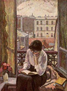 Tableau d'Eugene Spiro... « La littérature : un coup de hache dans la mer gelée qui est en nous. » Franz Kafka