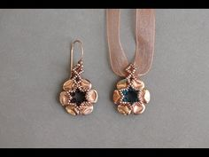Video: Rose Petals Earrings by Sidonia #Seed #Bead #Tutorials