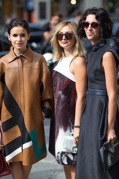 Street Style: Paris Fashion Week Spring 2014 - Miroslava Duma in Fendi, Nasiba Adilova and Yasmin Sewell