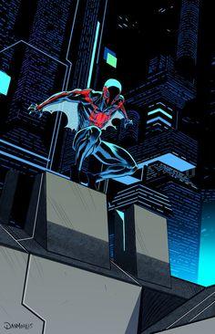 #Spiderman #2099 #Fan #Art. (Spiderman 2099) By: Dan-Mora. (THE * 5 * STÅR * ÅWARD * OF: * AW YEAH, IT'S MAJOR ÅWESOMENESS!!!™)[THANK Ü 4 PINNING<·><]<©>ÅÅÅ+(OB4E)