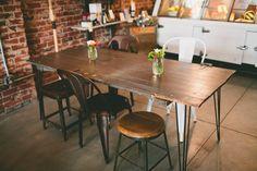 Rustic table - hairpin legs - DIY