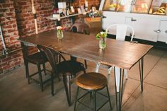 Rustic table - hairpin legs - DIY