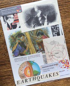Earthquake Warning Vintage Natural Disaster by diamondcloudstudio