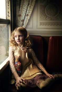 "{""En train"" fashion story in MilK Photos : Elisabeth Toll. Photos still life : Claire Israël.} love the colors of her outfit great inspo for christmas outfits"