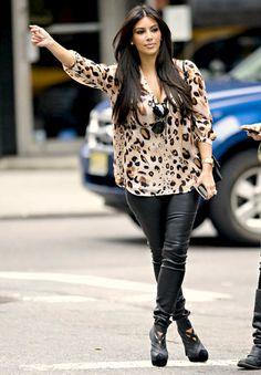 Love this leopard top.