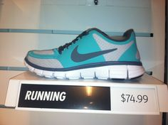 Cute new Nike tennis shoes with turquoise!!