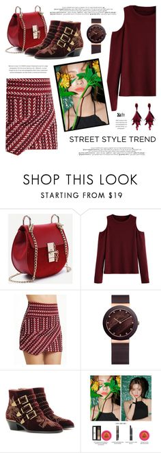 """Hot Date Night Style"" by defivirda ❤ liked on Polyvore featuring WithChic, Chloé and Oscar de la Renta"