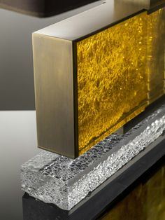 #Silia sneak peek heading for @decorexint: amber lucite and bronze #Decorex #Decorex2014