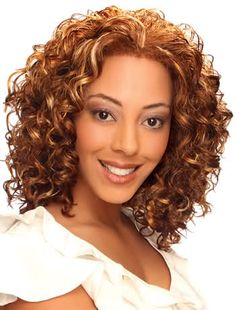 Highlights for soft curls.