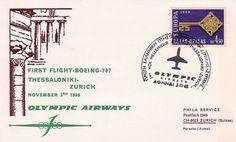 Olympic Airways - 1st Flight BOEING B707 THESSALONIKI-ZURIGH (3-11-68)
