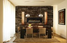 a long gas fireplace | Home > Fireplaces > Gas Fireplaces > Napoleon LHD50 Linear Series Gas ...