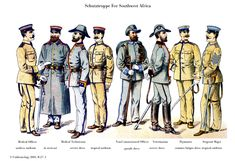 German Colonial Schutztruppe 1895 by Moritz Ruhl See all 12 plates at www.uniformology.com