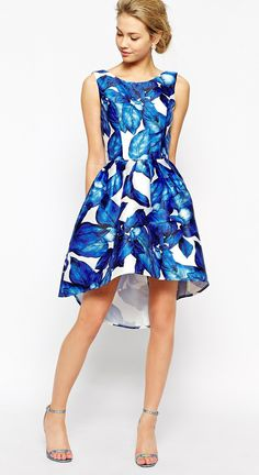 The cutest blue and white floral dress!