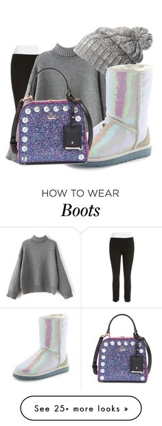 """boots"" by inspiredbyart345 on Polyvore featuring Calvin Klein Performance, Helly Hansen, UGG Australia and Kate Spade"
