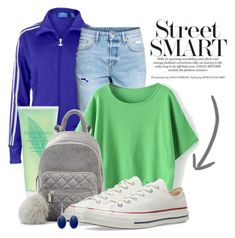 """street smart"" by beakta ❤ liked on Polyvore featuring adidas Originals, H&M, Elizabeth Arden, Converse and Liz Claiborne"