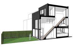 8A Architecten   Cascade house, Coendersbuurt, Spoorzone Nieuw Delft - modern rijtjeshuis