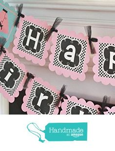 Happy Birthday Girl Pink/Black Blue OR Boy Red/Blue Checkered 50's Music Rock n Roll Guitar Poodle Skirt Sock Hop Jukebox Music Rock n Roll 1950's Theme Banner - Party Pack Specials from Dream Party Paperie http://www.amazon.com/dp/B0160O7NIQ/ref=hnd_sw_r_pi_dp_VTmvwb12WP9HH #handmadeatamazon