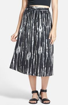 Painted+Threads+Print+Midi+Skirt+(Juniors)+available+at+#Nordstrom