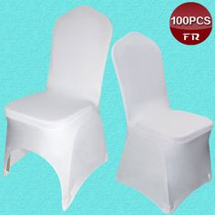 100PCS lycra chair cover Universal White Spandex Wedding Chair Covers for Weddings Party Banquet chair cover