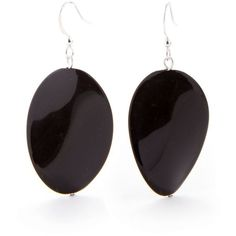 Kim Rogers Black Black Wavy Oval French Wire Earrings ($8.40) ❤ liked on Polyvore featuring jewelry, earrings, black, earrings jewelry, kim rogers, polish jewelry, black earrings and wire jewelry