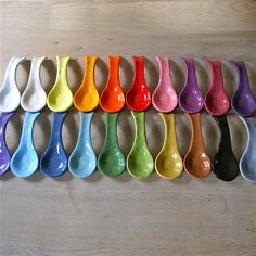 cool spoon rests, every possible color to match someone's taste
