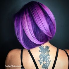 is the artist… Pulp Riot is the paint. is the artist… Pulp Riot is the paint. Vibrant Hair Colors, Hair Color Purple, Bright Hair, Cool Hair Color, Purple Bob, Colourful Hair, Colours, Pulp Riot Hair Color, Great Hair
