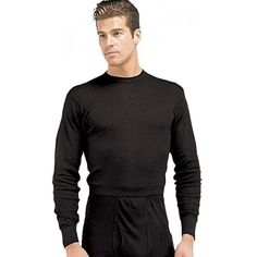 Crew Neck Polypro Thermal Long Underwear Shirt   Thermal Underwear ...