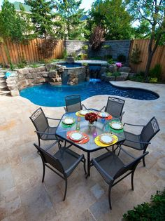 A definitive list of small pool ideas for your home. These small pool designs for your home are affordable. You can implement this in your backyard. Small Inground Pool, Small Swimming Pools, Small Backyard Landscaping, Swimming Pools Backyard, Swimming Pool Designs, Backyard Patio, Landscaping Ideas, Privacy Landscaping, Backyard Beach