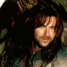 I can't not pin an Aidan Turner gif. I'm completely powerless against his sexy dwarf hair.