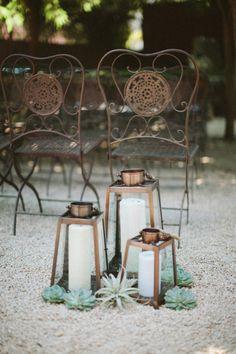 Desert inspired decor: http://www.stylemepretty.com/little-black-book-blog/2015/02/17/modern-masculine-summer-wedding-at-barndiva/ | Photography: Abi Q - http://abiqphotography.com/