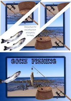 - Male card that can be used for any thing really, Gone fishing, card could be for birthday get well, Very easy to make pyra. 3d Cards, Gone Fishing, Fathers Day Cards, Punch Art, 3d Paper, Get Well, Decoupage, Birthday Cards, Card Making