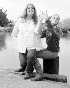 Cass Elliot and Michelle Phillips