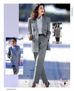 Wearing suits is not only for men! Women suits are the new trend of this season. If you want to look cool and stylish, you should buy a suit and match. 1990s Fashion Trends, 80s Fashion, Work Fashion, Vintage Fashion, Womens Fashion, Fashion 2018, Fashion Online, Womens Dress Suits, Suits For Women