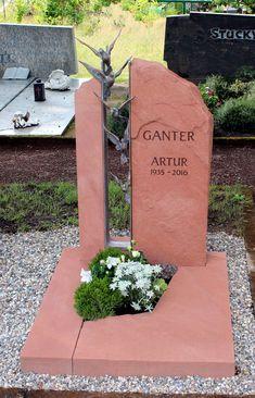 Urnengrabanlagen - Grabmale-Stucky Heltersberg grabsteine Grave Monuments, Grave Headstones, Stucky, Tombstone Designs, Cemetery Art, Drapes Curtains, Funeral, Outdoor Decor, Plants