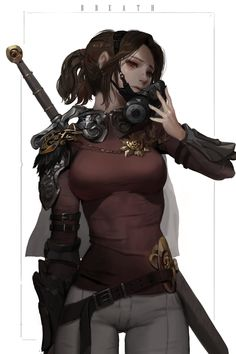 Pin by grant h on fantasy player, armor, and weapon concepts Female Character Design, Character Creation, Character Design Inspiration, Character Concept, Character Art, Concept Art, Fantasy Warrior, Fantasy Girl, Fantasy Characters