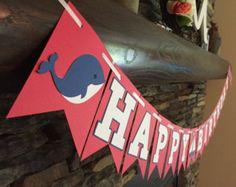 Centro de mesa temática náutica feliz cumpleaños por PaperMadeParty
