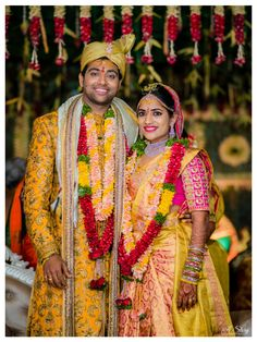 A Glam Hyderabadi Wedding With Stunning Outfits Indian Wedding Couple, Indian Wedding Planning, Indian Wedding Jewelry, Indian Bridal, Bridal Jewellery, Indian Weddings, Telugu Wedding, Saree Wedding, Wedding Wear