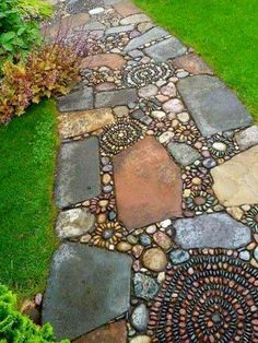 Decorative stone pathway (found online somewhere I can't find anymore)