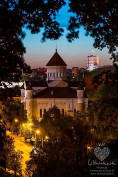 Lithuania, Vilnius, evening.