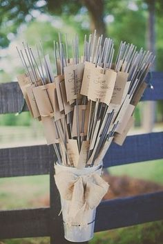 For seriously rad photo ops, give out sparklers as favors.   31 Impossibly Fun Wedding Ideas #weddingdecoration