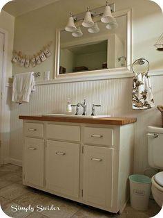 cottage bathroom makeover, bathroom ideas, home decor, After